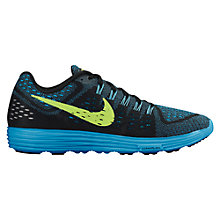 Buy Nike LunarTempo Men's Running Shoes, Black/Blue Online at johnlewis.com