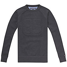 Buy Tommy Hilfiger Pique Jumper, Charcoal Online at johnlewis.com