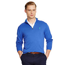 Buy Polo Golf by Ralph Lauren Zip Through Jumper, Diplomat Blue Online at johnlewis.com
