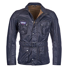 Buy Barbour International Carbon Cotton Jacket, Black Online at johnlewis.com