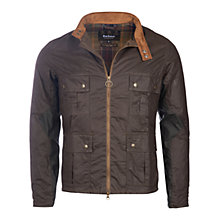 Buy Barbour International Chico Wax Jacket, Olive Online at johnlewis.com