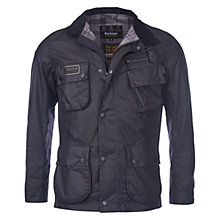 Buy Barbour International Slim Fit International Waxed Jacket, Black Online at johnlewis.com