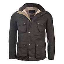 Buy Barbour International Raceway Waxed Jacket, Fern Online at johnlewis.com