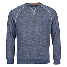 Buy Barbour Exhaust Crew Neck Sweatshirt, Indigo Online at johnlewis.com