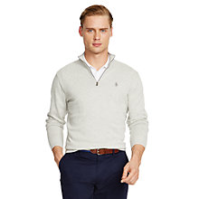 Buy Polo Golf by Ralph Lauren Zip Jumper, Grey Heather Online at johnlewis.com