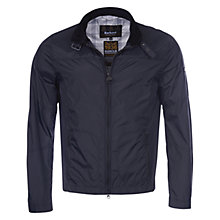 Buy Barbour Track Jacket, Black Online at johnlewis.com