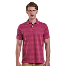 Buy Barbour Laundryman Striped Stack Polo Top, Raspberry Online at johnlewis.com