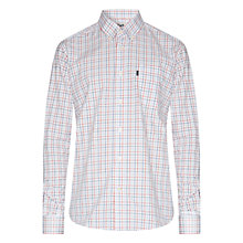 Buy Barbour Checked Patrick Shirt, Pillar Box Red Online at johnlewis.com
