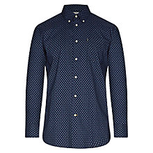 Buy Barbour Micro Paisley Print Curtis Shirt, Navy Online at johnlewis.com