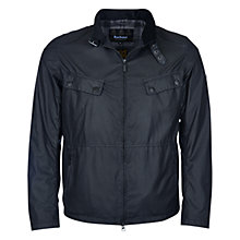 Buy Barbour International Rebel Waxed Cotton Jacket, Black Online at johnlewis.com