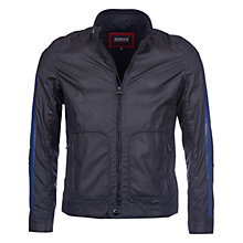 Buy Barbour International Triumph Sealent Waxed Cotton Jacket, Black Online at johnlewis.com