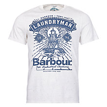 Buy Barbour Laundryman Crafts T-Shirt, Neutral Online at johnlewis.com