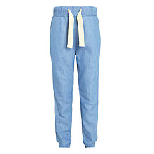 Buy Kin by John Girls' Lewis Chambray Jogger Trousers, Blue Online at johnlewis.com