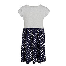 Buy John Lewis Girls' Jersey Dress, Grey/Navy Online at johnlewis.com