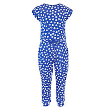 Buy Kin by John Lewis Girls' Donut Print Jumpsuit, Blue Online at johnlewis.com