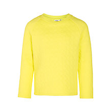 Buy Kin by John Lewis Girls' Quilted Sweatshirt, Yellow Online at johnlewis.com