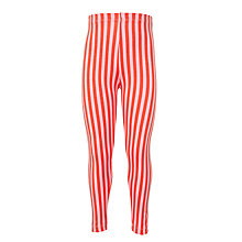 Buy Kin by John Lewis Girls' Stripe Leggings, Orange Online at johnlewis.com