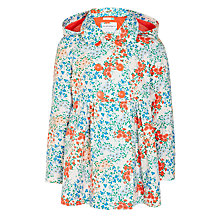 Buy John Lewis Girls' Floral Print Mac, Cream Online at johnlewis.com