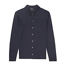 Buy Reiss Loud Relaxed Button Shirt, Navy Online at johnlewis.com