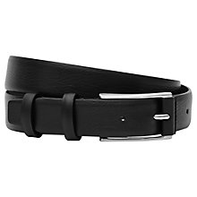 Buy Reiss Vinnie Leather Belt, Black Online at johnlewis.com