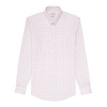 Buy Reiss Thierry Check Collar Bar Shirt, White/Red Online at johnlewis.com