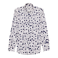Buy Reiss Gunn Abstract Print Slim Fit Shirt, White Online at johnlewis.com