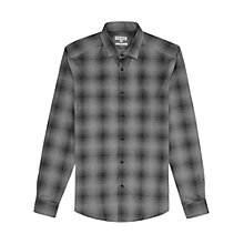 Buy Reiss Cesc Tonal Pattern Shirt, Grey Online at johnlewis.com