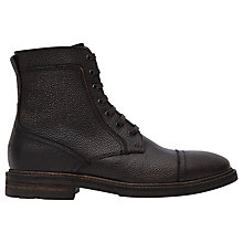 Buy Reiss Arnold Grain Leather Boots, Brown Online at johnlewis.com