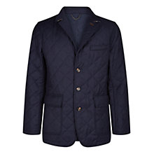 Buy Aquascutum Steele Quilted Flannel Blazer, Navy Online at johnlewis.com