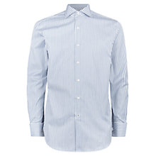 Buy Aquascutum Alwin Stripe Shirt, Green Online at johnlewis.com