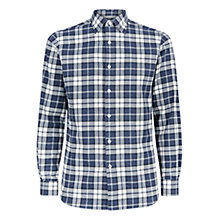Buy Aquascutum Check Shirt, Blue Online at johnlewis.com