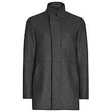Buy Reiss Lansky Funnel Collar Overcoat Online at johnlewis.com