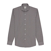 Buy Reiss Conte Geometric Print Shirt, Black Online at johnlewis.com