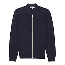 Buy Reiss Charleston Full Zip Jumper, Navy Online at johnlewis.com