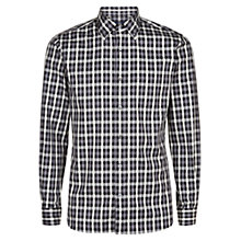 Buy Aquascutum Harley Club Check Shirt, Grey Online at johnlewis.com