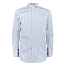 Buy Aquascutum Alwin Stripe Shirt, Blue Online at johnlewis.com