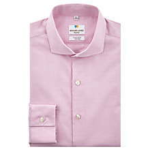 Buy Richard James Mayfair Jacquard Geo Print Tailored Fit Shirt, Pale Pink Online at johnlewis.com