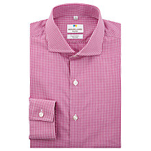 Buy Richard James Mayfair Shadow Gingham Tailored Fit Shirt, Fuchsia Online at johnlewis.com