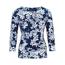 Buy Viyella Bluebell Flower Jersey Top, Blue Online at johnlewis.com