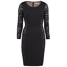 Buy Gina Bacconi Animal Mesh Panelled Dress, Black Online at johnlewis.com