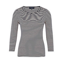 Buy Viyella Twist Neck Stripe Top, Navy Online at johnlewis.com