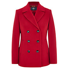 Buy Viyella Double Breasted Pea Coat, Red Online at johnlewis.com