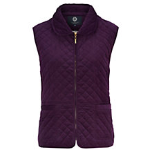 Buy Viyella Petite Cord Gilet, Dark Purple Online at johnlewis.com