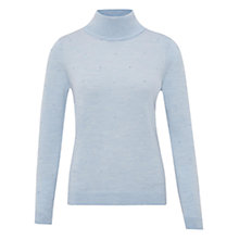 Buy Viyella Petite Roll Neck Jumper, Pale Blue Online at johnlewis.com