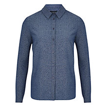 Buy Viyella Ditsy Cotton Shirt, Indigo Online at johnlewis.com