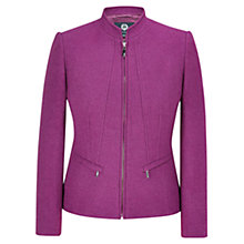Buy Viyella Boiled Wool Zip Front Jacket, Berry Online at johnlewis.com