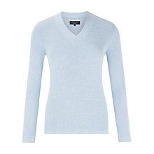 Buy Viyella Petite Rib Jumper, Pale Blue Online at johnlewis.com