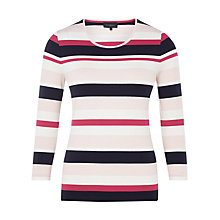 Buy Viyella Block Stripe Jersey Top, Multi Online at johnlewis.com