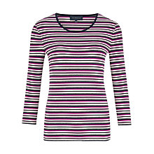 Buy Viyella Mini Stripe Jersey Top, Purple Online at johnlewis.com