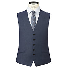 Buy Richard James Mayfair Birdseye Wool Slim Fit Waistcoat, Blue Online at johnlewis.com